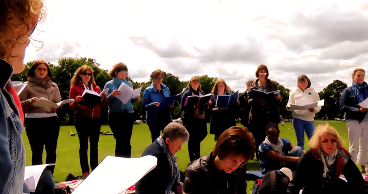 Eclipse Choir Sopranos park rehearsal